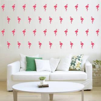 30 Flamingo Wand Sticker Wandaufkleber Wandtattoo Wanddeko Basteln pink