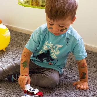 Temporäre Klebetattoos Kinder Tattoo Set zum Spielen - Elefant Motive