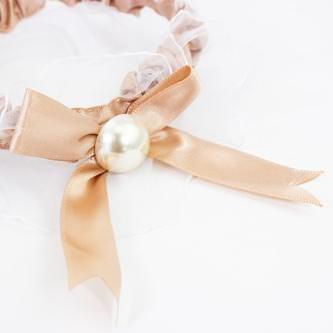 Strumpfband mit Schleife Hochzeit JGA Junggesellinnenabschied - creme