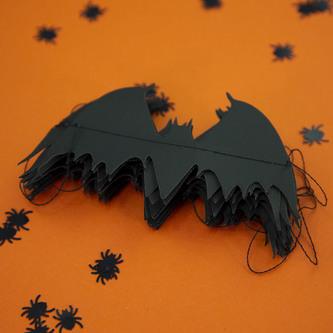 Fledermaus Girlande mit 20 Fledermäusen 3m Halloween Party Deko schwarz