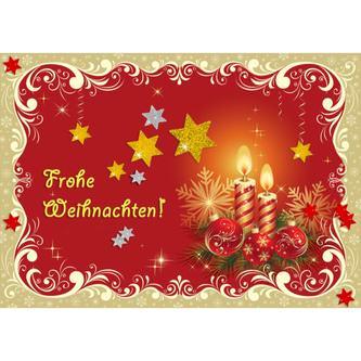 68 Sterne Sticker Aufkleber Glitzernd Funkelnd Weihnachtsdeko Weihnachtssterne - silber