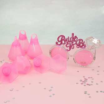 6x Schnapsglas Trink Ring Diamantring Shotglas Becher JGA Hen Party Accessoires
