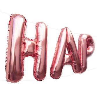 Happy Birthday Folienballon Girlande in Roségold Geburtstag Party Deko