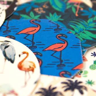 45 Flamingo Sticker Tropical Sommer Aufkleber Selbstklebend Verzierung