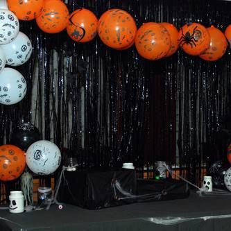Lametta Vorhang Dekoration Party Feier Fasching Karneval - schwarz
