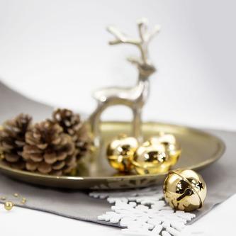 12 Weihnachtsglöckchen Tischdeko Weihnachtsbaum Weihnachtsdeko - gold