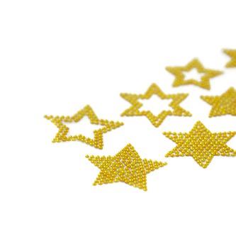 10 Sterne Sticker Strass Steine für Weihnachten Weihnachtsdeko Weihnachtssterne - gold