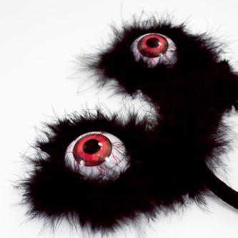 Haarreifen mit Gusel Augen Halloween Monster Horror Karneval Fasching