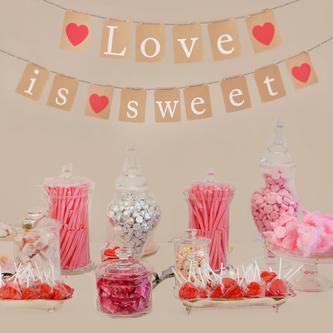 Hochzeit JGA Girlande Banner Deko - Love is sweet