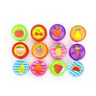 12 Kinder Stempel Früchte Stempelset Selbstfärbend kreativ
