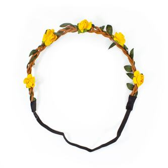 Blumen Haarband Stirnband Haarschmuck Bohemia Kopfschmuck - gelb