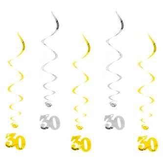 30. Geburtstag Wirbel Spiral Deckenhänger Girlande Set Jubiläum Deko