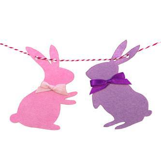 Hasen Girlande Osterhasen Kaninchen Ostern Kinderzimmer Kinder Geburtstag Deko