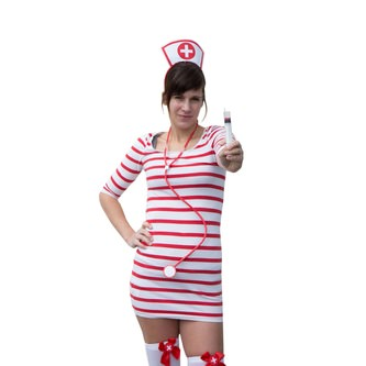 Krankenschwester Kostüm Haarreif Haarreifen & Stethoskop Abhörgerät