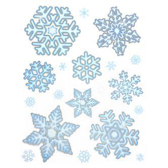 76 Schneeflocken Schnee Sticker Winter Fenster Deko Weihnachtsdeko selbstklebend