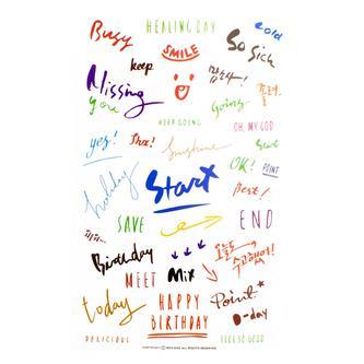 250 Kalligrafie Schriftzug Sticker Deko Aufkleber Scrapbooking