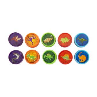 10 Kinder Stempel Dino Stempelset Dinosaurier Selbstfärbend kreativ