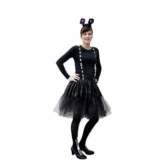 Tutu Tütü Reifrock Petticoat Damen Rock in schwarz Fasching Karneval Halloween