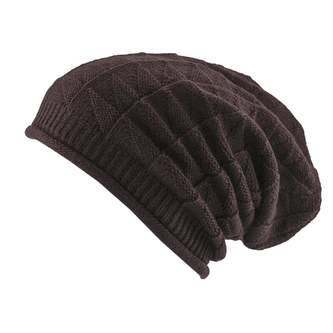 Long Beanie Mütze XXL Damen Herren Kinder Winter Mützen - brown