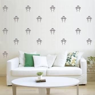 30 Flamingo Wand Sticker Wandaufkleber Wandtattoo Wanddeko Basteln silber