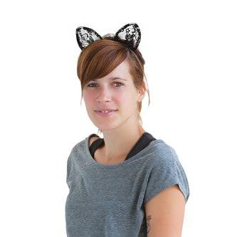 Haarreif Haarreifen Katzenohren Kostüm Fasching Karneval