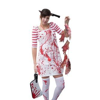 Halloween Haarreifen Messer im Kopf - Prank Horror Karneval Fasching
