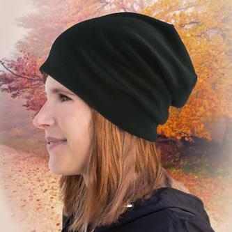 Long Beanie XXL Mütze Slouch Trend Damen Herren Kinder Mütze - black