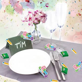 Alles Gute Zum Schulanfang Konfetti Streu Tisch Deko 18 Stk - bunt
