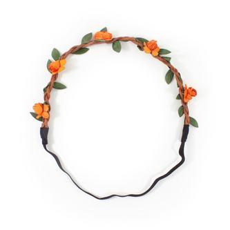 Blumen Haarband Stirnband Haarschmuck Bohemia Kopfschmuck - orange