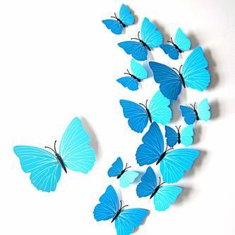 3D Schmetterlinge 60er Set Wandtattoo Wandsticker Wanddeko - bunt