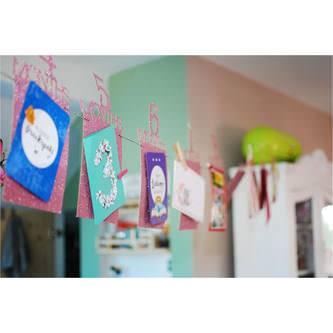 Baby Girlande 12 Monate Monatsgirlande Mädchen Geschenk Babyshower