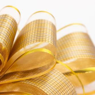 Geschenkschleife Deko Schleifen für Geschenke uvm - gold