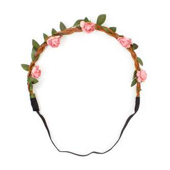 Blumen Haarband Stirnband Haarschmuck Bohemia Kopfschmuck - alt rosa