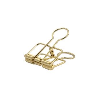 6 Foldback Klammern Klemmen Papierklammern Vielzweckklemmen - gold