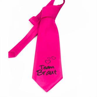 Krawatte Team Braut Junggesellinnenabschied JGA Hochzeit Braut pink