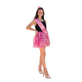 Haarreifen Prinzessin Krone JGA Tanzmarie Fasching Karneval pink