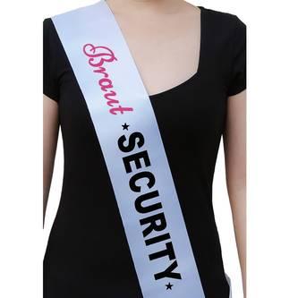 Schärpe Braut + Braut Security Set JGA Hen Party Bride to be weiß
