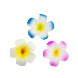 6 Blumen Haarspangen Haarclips Haarschmuck Hawaii Party Karneval Fasching - gelb