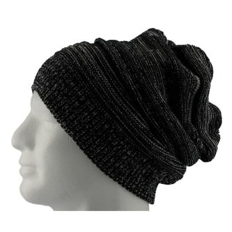 Long Beanie Mütze XXL Damen Herren Kinder Winter Mützen - black-white