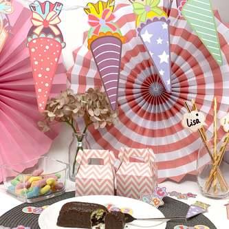 Zuckertüten Girlande Banner Hänge Deko für Schuleinführung Schulanfang Einschulung Jungs Mädchen