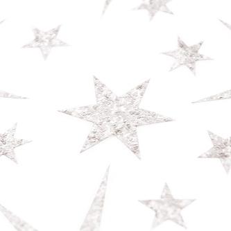 24 Sterne Sticker mit Pailletten Stern Aufkleber Glitzernd Weihnachtsdeko Deko Weihnachten - silber