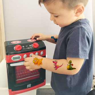 Temporäre Klebetattoos Kinder Dinosaurier Tattoo Set - Dino Motive