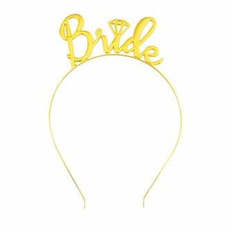 Haarreif Haarreifen Bride JGA Junggesellinnenabschied Hen Party gold