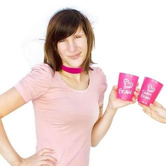 Halsband Halskette Kette Choker JGA Junggesellinnenabschied Party pink