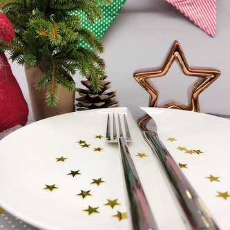 Stern Konfetti Geburtstag Hochzeit Feier Tisch Deko Weihnachten 14g - gold
