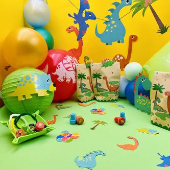 10 Dino Luftballons Kinder Geburtstag Party Dinosaurier Ballons Farbmix