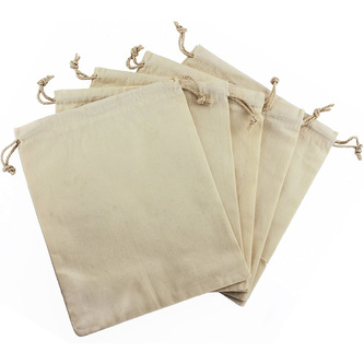 Baumwollsäckchen Baumwollbeutel mit Zugband Kordelzug