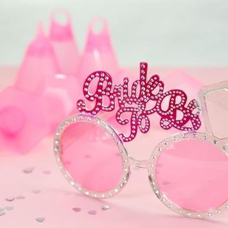 Brille Junggesellinnenabschied JGA zukünftige Braut rosa - Bride To Be