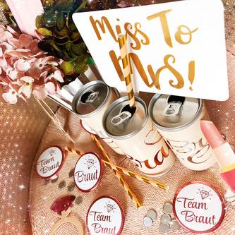 Strohhalme Trinkhalme Geburtstag Party Hochzeit JGA Deko - rosa gold