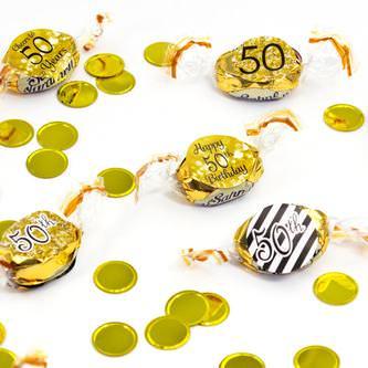 Konfetti Rund Kreis Tisch Deko Hochzeit Geburtstag 300 Stk - gold